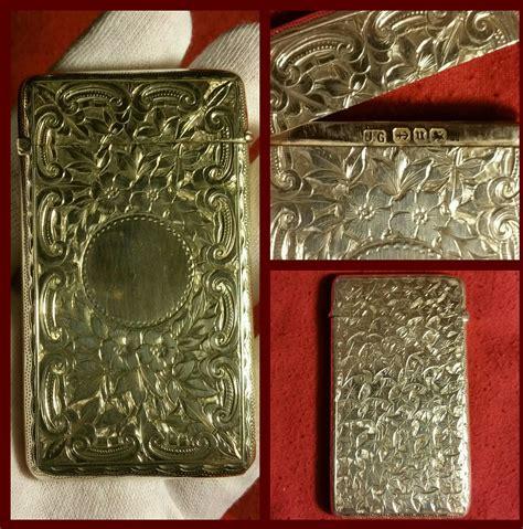 porta biglietti da visita argento porta biglietti da visita argento inglese antique