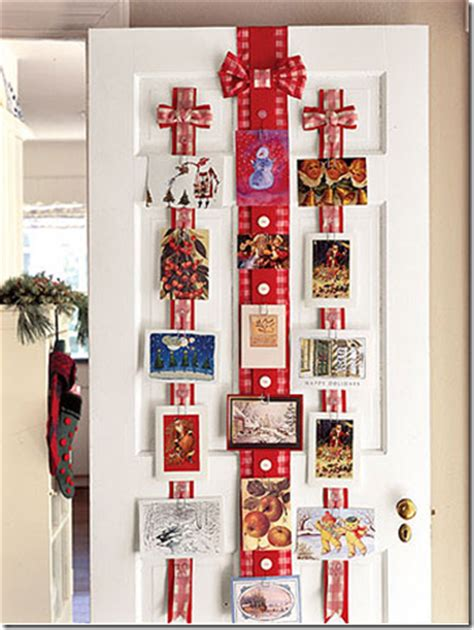 How To Display Christmas Cards | beautiful and simple ideas for displaying christmas