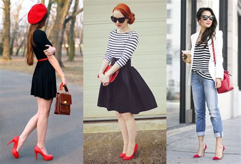 what looks good with red what to wear with red heels outfit ideas for red pumps