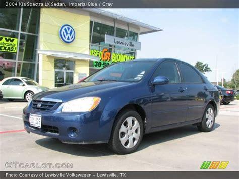 2004 Kia Spectra Lx Imperial Blue 2004 Kia Spectra Lx Sedan Gray Interior