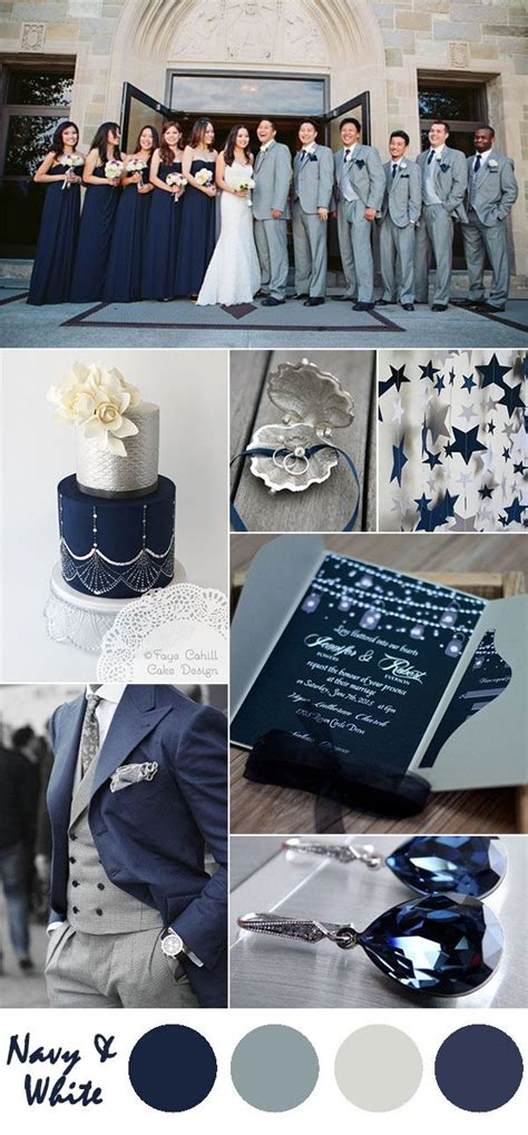 ten most gorgeous navy blue wedding color palette ideas for 2016 silver wedding colours navy