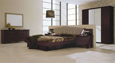 bedroom sets with storage drawers mahogany finish modern bedroom set with storage drawers