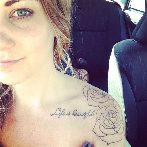 life is beautiful tattoo girly shoulder collarbone is beautiful quote
