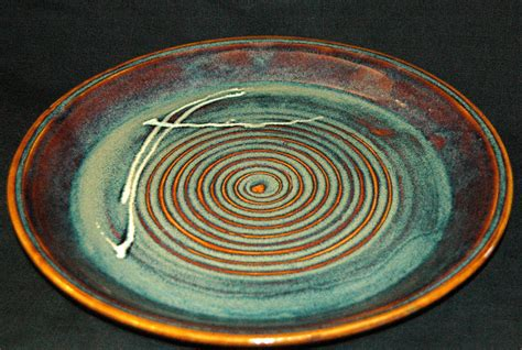 Pottery Platters Handmade - wheel thrown stoneware platter handmade pottery platter