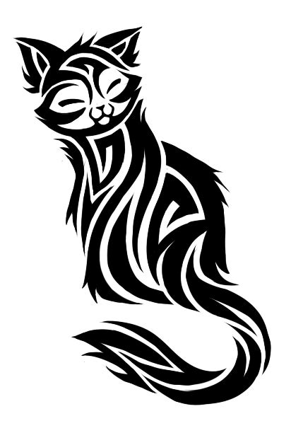 black n white tattoo designs black n white cat design