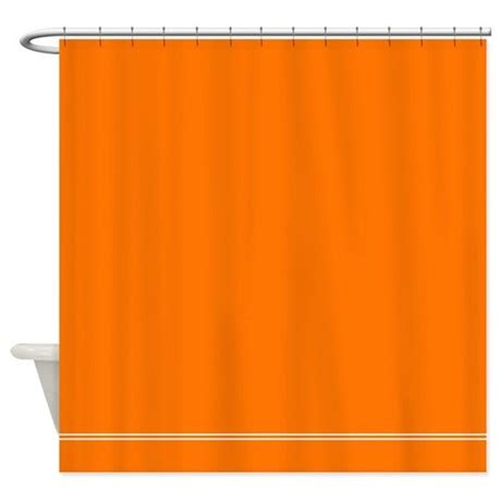solid orange curtains solid orange shower curtain by inspirationzstore