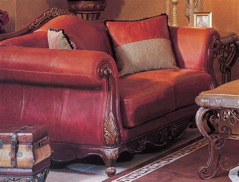 red leather loveseat red leather sofa set leather living room set 8798