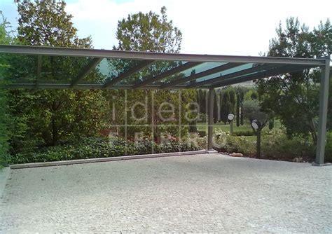 tettoia in vetro tettoia per auto con vetro stopsol idealferro