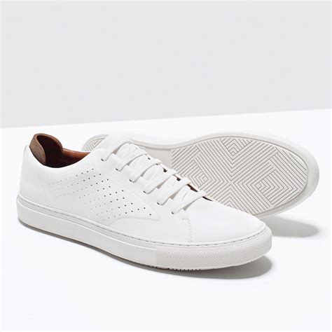 Zara Shoes Skin Black White by Zara Shoes Bags White Trainers Sneakers