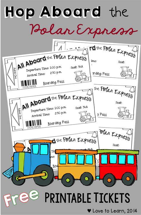 Polar Express Printable Tickets