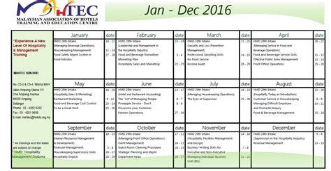design training calendar training course schedule