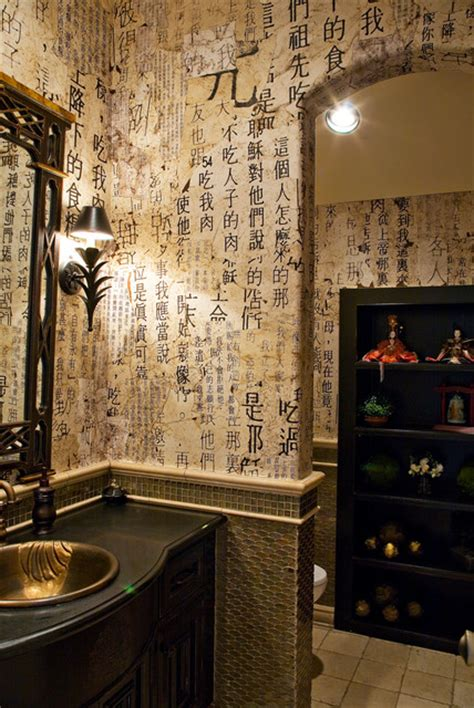 asian themed bathroom handmade paper for asian inspired powder room bathroom