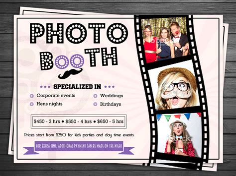Bold Serious Flyer Design For Cheeky Moments By Debdesign Design 5283718 Photo Booth Brochure Template