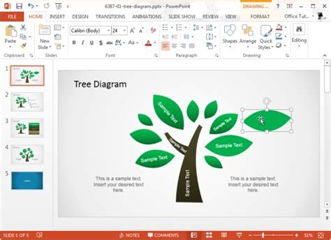 Concept Map Templates For Powerpoint Tree Diagram Ppt Template Free