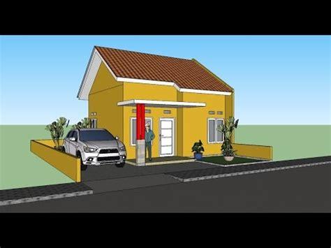 tutorial gambar rumah dengan sketchup membuat gambar 3d rumah sederhana menggunakan sketchup