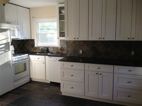 white shaker cabinets with granite my kitchen is completed aspen white shaker