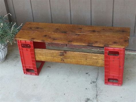 coca cola bench for sale upcycled plastic coca cola crates made into a bench or
