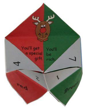 printable christmas fortune teller pin by amanda anderson on celebration station pinterest
