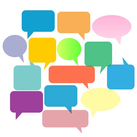 social speech bubbles different colors shapes stock vector colorful speech bubbles vector free vector download in