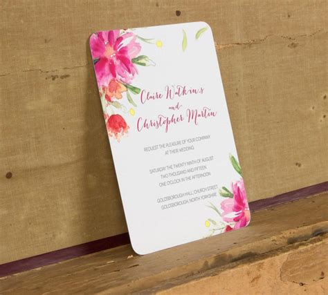 printable wedding invitations floral modern bright floral wedding invitation template modern