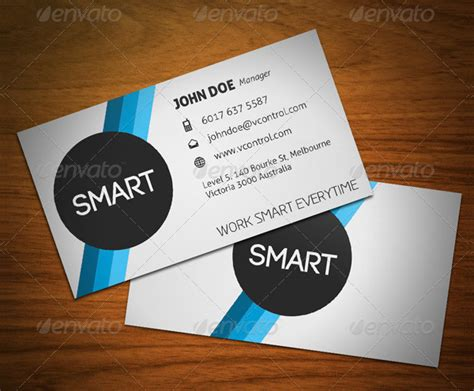Smart Business Card Template by 24 Stripes Business Card Template Free Premium
