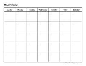 Printable 2015 Monthly Calendar Template by 2016 Printable Monthly Calendar Template Search Results