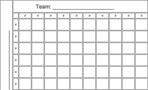 football board template 100 squares nfl football office pool template and