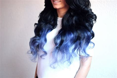 dyed hairstyles for black hair hair trends 2015 10 hottest blue dip dye hair colors for