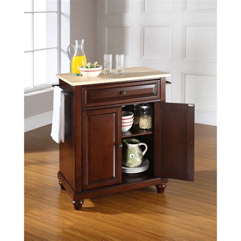 kitchen island vintage cambridge natural wood top portable kitchen island in
