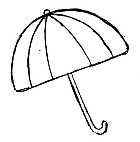 umbrella top coloring page colouring worksheet of umbrella clipart best