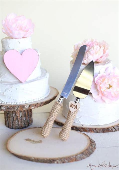 Serve Wedding Cake And by Personalized Rustic Wedding Cake Knife Serving Set Item