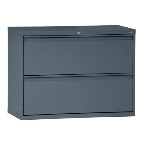 sandusky 800 series 2 drawer lateral file charcoal color