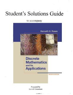 Solution Manual Discrete Mathematics And Its