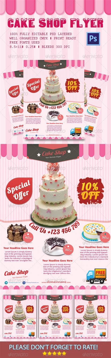 cake flyer template free cake shop flyer cake shop event flyers and print templates