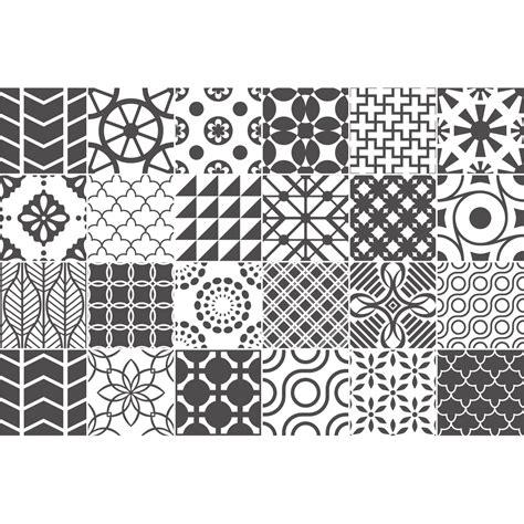 Couleur Gris Ros by 24 Stickers Carreaux De Ciment Nuances De Gris Lindos