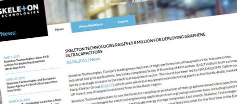graphene ultracapacitors skeleton raises 10m for graphene ultracapacitors