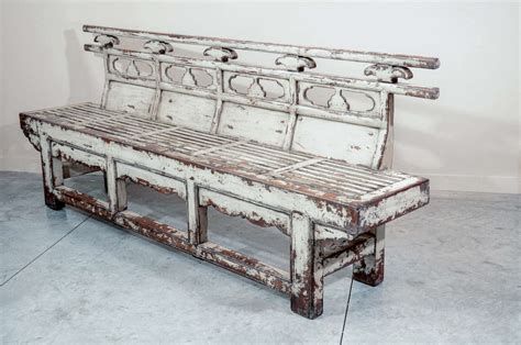 antique benches for sale antique chinese weathered theater bench for sale at 1stdibs
