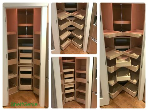 Corner Pantry Shelving by Pantry Shelving Shelfgenie Custom Pull Out Pantry
