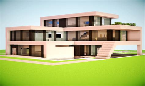 modern house building modern house minecraft project