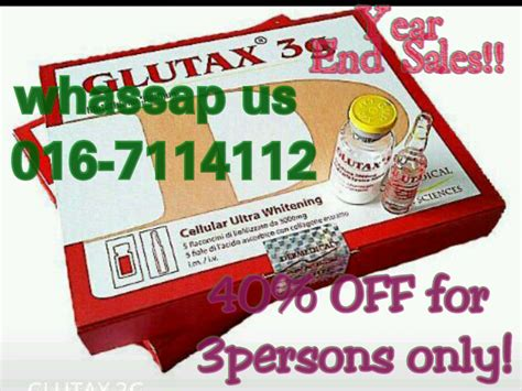 Glutax 5g Original Malaysia by Genuine Injection Product Available Here 2013