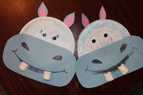 hippo paper plate craft happy hippo crafts for
