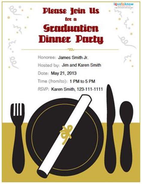 graduation dinner invitation wording graduation dinner invitation templates free