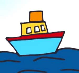 how to draw a 3d boat how to draw a tug boat video by simplekidscrafts fawesome tv