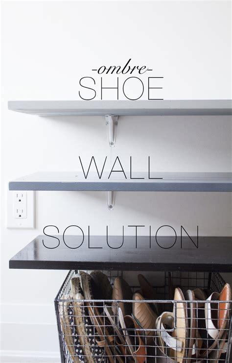 do it yourself shoe rack