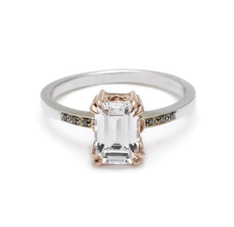 emerald cut engagement ring onewed