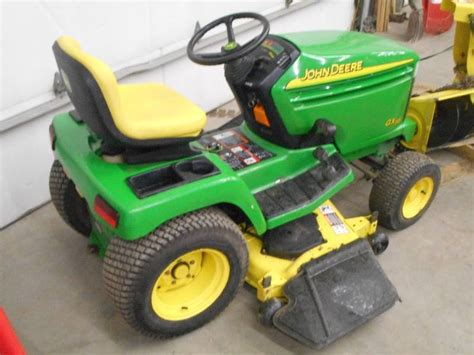regular or premium gas for lawn mower deere gx345 lawn tractor with 42 quot snowblower mower