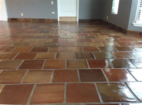 12X12 Manganese Saltillo Mexican Terracotta Clay Floor