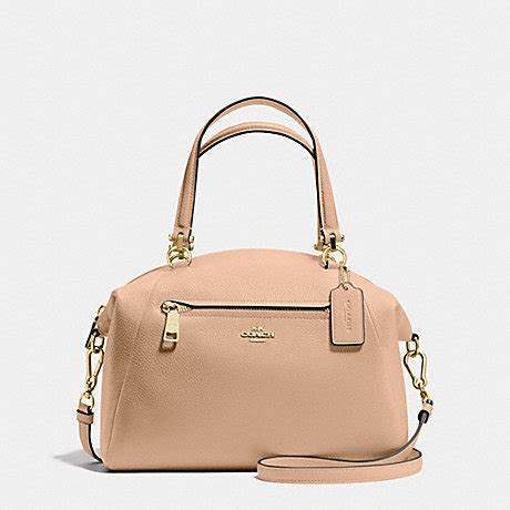 Coach Leather Bag Beechwood by Coach F34340 Prairie Satchel In Pebble Leather Light Gold Beechwood Coach Handbags Coach