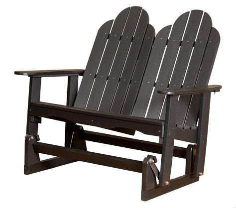 adirondack glider bench classic adirondack glider the rocking chair company