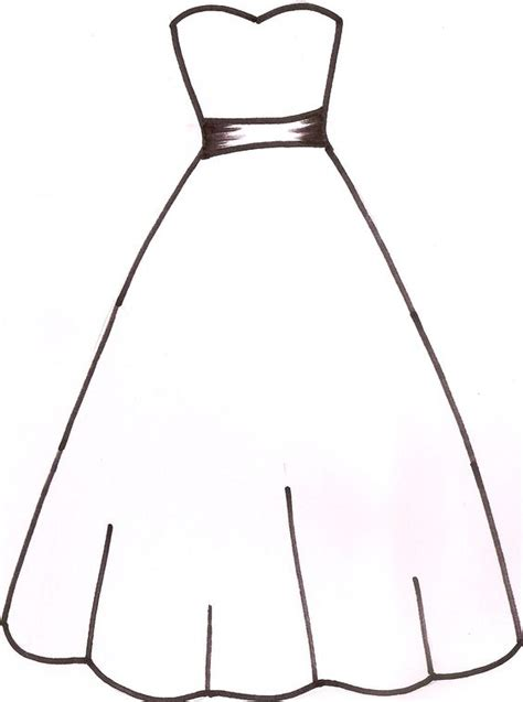 Wedding Cut Out by Wedding Dress Clipart Cut Out Pencil And In Color